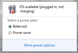 plugged in but not charging error