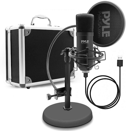 USB Microphone Podcast Recording Kit