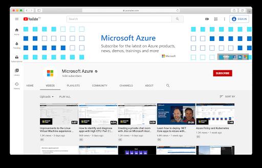 Azure-YouTube