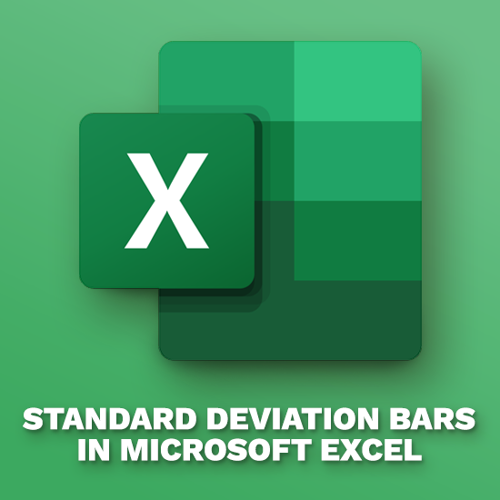 Add Standard Deviation Bars in Excel