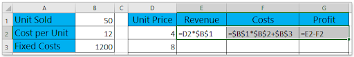 Excel calculations