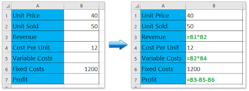 Excel formula calculation