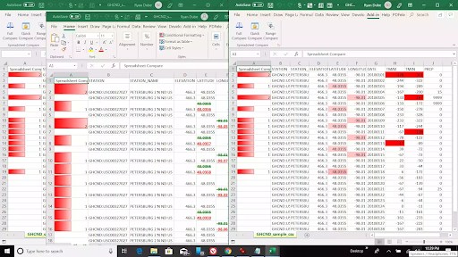 compare two excel files