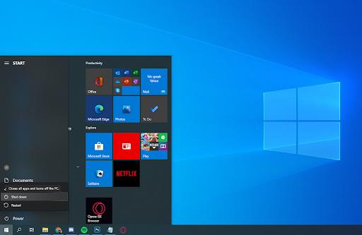 Windows StartUp Page