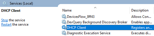 DHCP Client.
