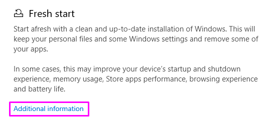 Device performance & health additional information