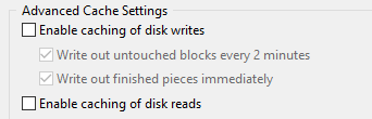 Enable caching of disk reads