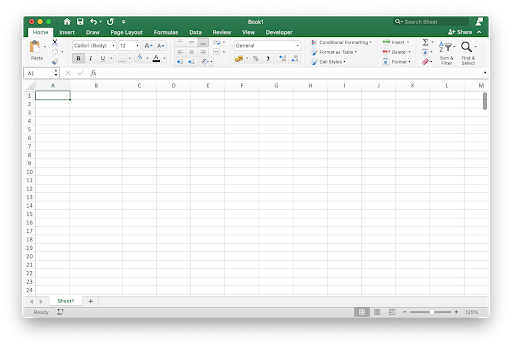 Navigate Excel Interface