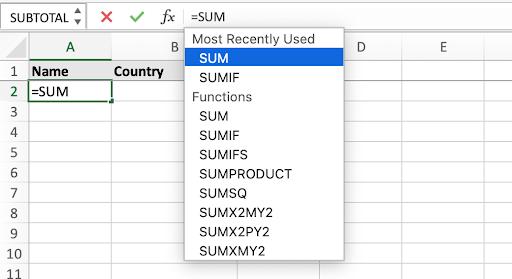 Study Excel formulas