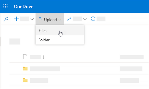 How to upload files on OneDrive