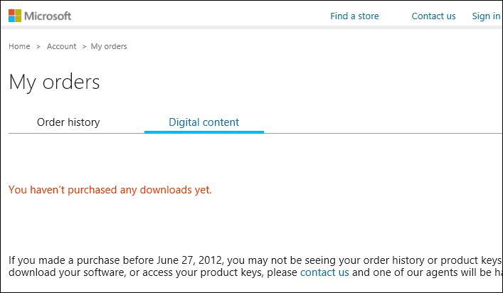 A digital copy of Windows 10 from Microsoft Website