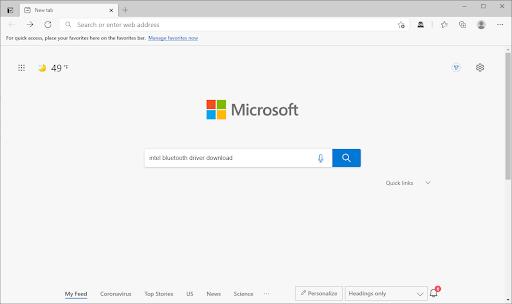 Microsoft edge search engine