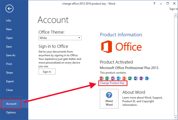 How to Change Your Office 2016 Product Key
