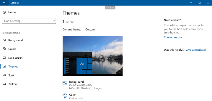 How to Change the active theme