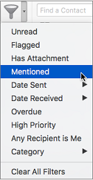 How to Find Messages That Mention You