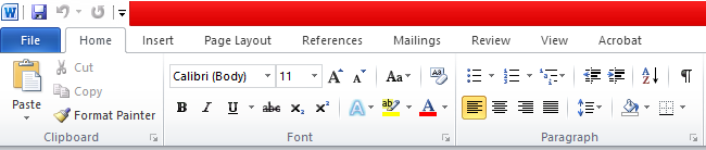 How to add or remove buttons from the toolbars in Office