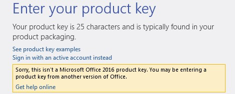 How to change Microsoft Office 2016 product key in windows 10