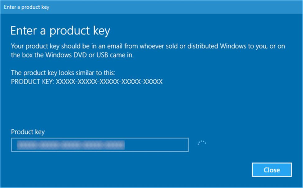 How to change product key in windows