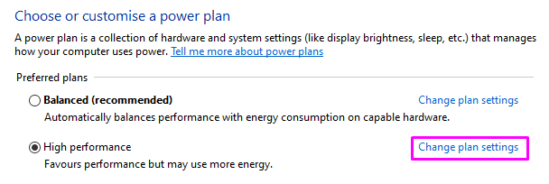 How to customize power plans on windows