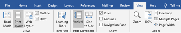 How to customize settings in word
