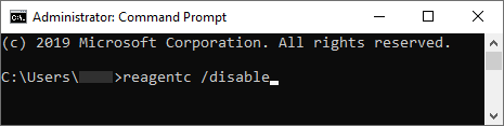 How to disable reagntc