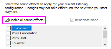 How to disable sound effects on windows