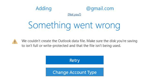 How to fix something went wrong error in outlook