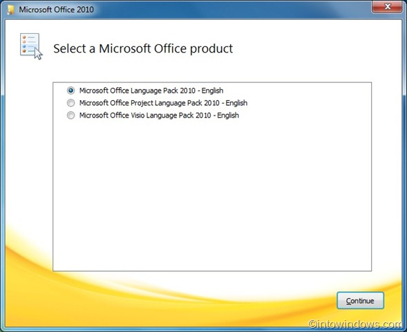 How to install office language pack 2010