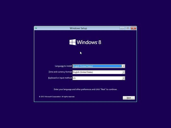 How to install windows 8 using bootabale USB