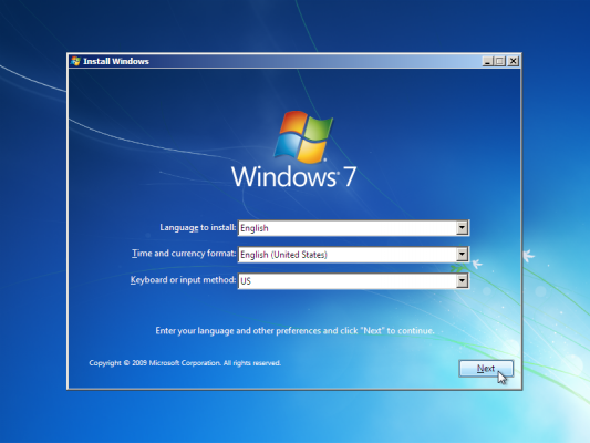 How to installing windows 7 using boot-bale USB