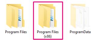 How to locate visual studio program files