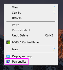How to personalize settings on windows