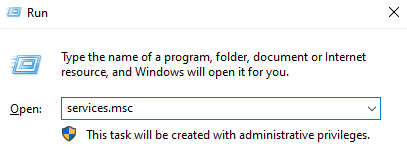 How to run windows services manager