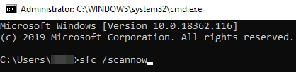 How to scan your PC through command prompt