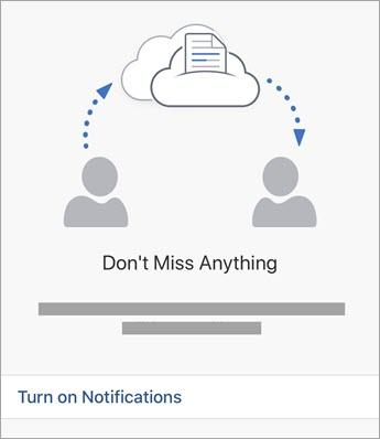 How to turn on Office Notification on iPad