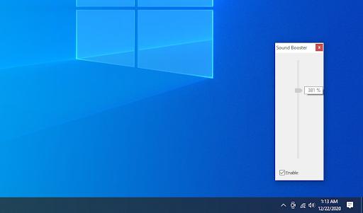 Sound booster in Windows 10