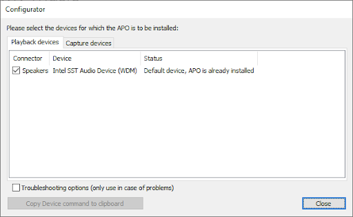 Windows 10 Equalizer