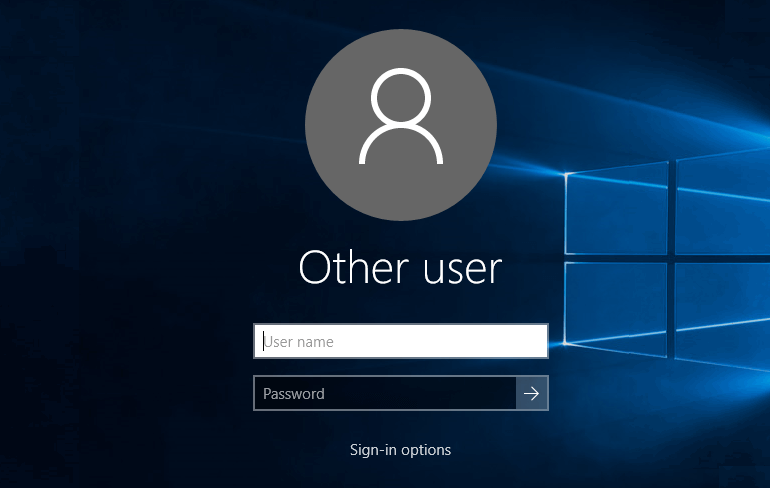 How to login/logout of windows 10