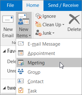 How to set Meetings on Outlook