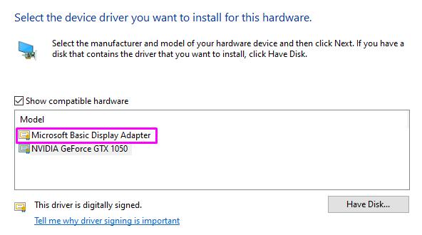 Microsoft Basic Display Adapter