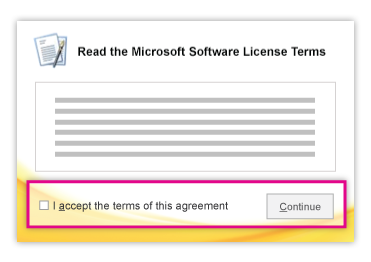 Microsoft software license terms windows 7