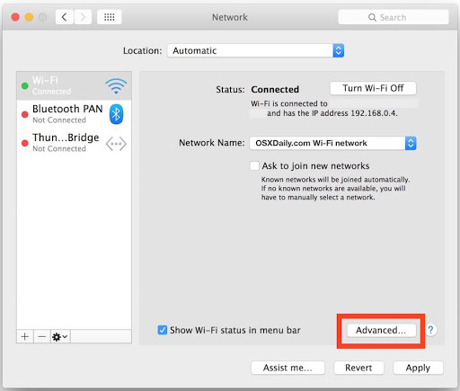 How to set up dns on mac