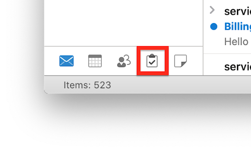 Outlook task view