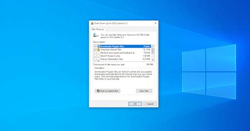 Run Disk clean Up utility