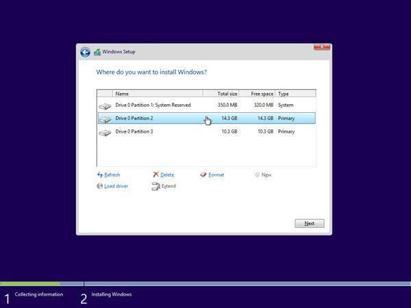 Select one of the new partitions and click Format