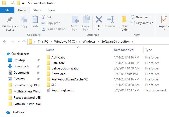 SoftwareDistribution folder