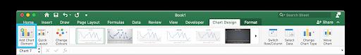 Trendline in Excel for Mac