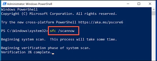 scan your system with sfc scan