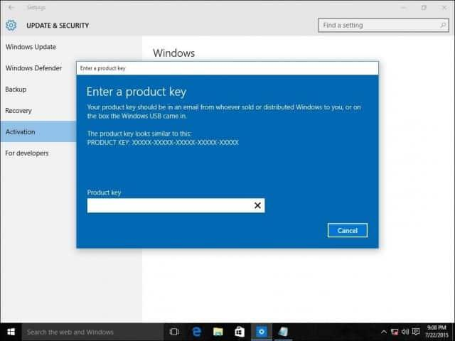 Actualización de Windows Home a Windows 10 Pro