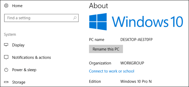 Windows 1 N edition